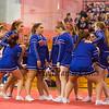 Winnacunnet High School Cheer Team at Sunday's 2014 NHIAA Division II Fall Spirit Championships at Pinkerton Academy on 11-9-2014.  Matt Parker Photo