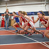 Winnacunnet's Sarah DeMello (1:57.20-4th) gets off to a strong start in the Girls 600 Meter Run during Saturday's NH Indoor Track and Field League Meet @ The Paul Sweet Oval, UNH on 12-21-2014.  Matt Parker Photos.