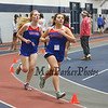 Winnacunnet's Alana Sher (3:46.50) and Lydia Sack (3:45.60) compete in the Girls 1000 Meter Run during Saturday's NH Indoor Track and Field League Meet @ The Paul Sweet Oval, UNH on 12-21-2014.  Matt Parker Photos.