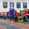Winnacunnet's Ryan Hanley (38.70-1st) crosses the finish line in The Boys 300 Meter Dash during Saturday's NH Indoor Track and Field League Meet @ The Paul Sweet Oval, UNH on 12-21-2014.  Matt Parker Photos.