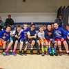 HYA Basket Ball players gather for a photo showing support for the Winnacunnet Warriors Boys Basketball team during Monday Night's Boys Div I Basketball game between Winnacunent and Nashua North High Schools on 12-22-2014 @ WHS.  Matt Parker Photos.