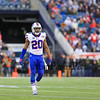 Buffalo's CB #20 Corey Graham heads to the sidelines during Sunday's NFL Football game between The New England Patriots and The Buffalo Bills on 12-28-2014 @ Gillette Stadium, Foxborough Mass.  Matt Parker Photos
