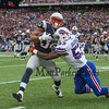 Patriots RB #34 Shane Vereen gets tackled by Buffalo's LB #53 Nigel Bradham during Sunday's NFL Football game between The New England Patriots and The Buffalo Bills on 12-28-2014 @ Gillette Stadium, Foxborough Mass.  Matt Parker Photos