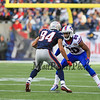 Patriots WR #84 Brian Tyms lines up with Buffalo's CB #20 Corey Graham during Sunday's NFL Football game between The New England Patriots and The Buffalo Bills on 12-28-2014 @ Gillette Stadium, Foxborough Mass.  Matt Parker Photos