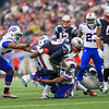 Patriots RB #29 LeGarrette Blount gets tackled by Buffalo's CB #20 Corey Graham and LB #53 Nigel Bradham during Sunday's NFL Football game between The New England Patriots and The Buffalo Bills on 12-28-2014 @ Gillette Stadium, Foxborough Mass.  Matt Parker Photos