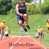 Exeter's John Beauregard leaps for the sand in the Boys Triple Jump during Sunday's NHIAA Division 1 Track and Field Championships @ Winnacunnet High School on 6-1-2014.  Matt Parker Photo