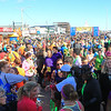 Hampton Beach's Ocean Bouelvard fills with runners and spectators at the finish line of the 2014 Smuttynose Rockfest Half Marathon at Hampton Beach, NH on Sunday 10-5-2014.  Matt Parker Photo