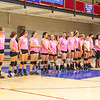 Breast Cancer Awareness Pink Night at Winnacunnet Girls Varsity Volley Ball vs Merrimack High School on Wednesday 10-8-2014 @ WHS.  Matt Parker Photo