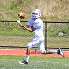 Winnacunnet's James Nash makes a catch on a long thrown ball during Friday's  Football scrimmage between Winnacunnet and Nashua South High Schools @ Winnacunnet on Friday August 29, 2014.  Matt Parker Photo