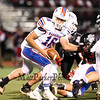 Winnacunnet's Brian Auffant looks to hand the ball off for a running play during Friday Night's Div I Football game Winnacunnet vs Bedford High Schools on 9-19-2014 @ Bedford.  Matt Parker Photo
