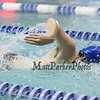 Winnacunnet's Robert Smith takes a breath in the 11th Heat of the Boys 100 Yard Freestyle race during The Bobcat Invitational Swim Meet on Sunday @ the UNH Pool on 1-25-2015.  Matt Parker Photos