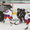 Winnacunnet's #3 Meg Dzialo and Bearcats #25 Will Ohrenberger at a face-off during Saturday's Div II Hockey game between Winnacunnet and Somersworth/coe-Brown High Schools at The Rinks at Exeter on 1-3-015.  Matt Parker Photos