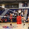Winnacunnet's #14 Meg Knollmeyer jumps to make a kill during Friday's Div I Girls Volleyball game between Winnacunnet and Concord High Schools on 10-23-2015 @ WHS.  Matt Parker Photos