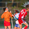 Winnacunnet Warriors Girls Reserve Soccer vs Memorial Crusaders on Tuesday 10-6-2015 @ WHS.  Matt Parker Photos
