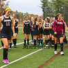 Portsmouth Clippers players head off the field after their loss to Lebanon in the NHIAA DIV II Girls Field Hockey Championship game between the Portsmouth Clippers and the Lebanon Raiders on Sunday 11-1-2015 @ Bedford HS.  Matt Parker Photos