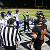 Coin Toss to start the Maine Principals Association Class B Football State Championship game between Marshwood and Brunswick High Schools on Saturday @ Fitzpatrick Stadium, Portland, ME, 11-21-2015, MHS-21, BHS-14.  Matt Parker Photos
