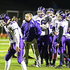 Marshwood's Coach Alex Rotsko watches his team during warm-up prior to the start of the Marshwood Hawks vs Brunswick Dragons at the Maine Principals Association Class B Football State Championships on Saturday @ Fitzpatrick Stadium, Portland, ME, 11-21-2015, MHS-21, BHS-14.  Matt Parker Photos