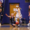 York Wildcats #11 Reilly Smedley makes a break up the court after taking the ball from Raiders #22 Julia Quinn during Saturday's Western Maine Conference Girls Basketball game between York and Fryeburg Academy @ York on 12-19-2015.  Matt Parker Photos
