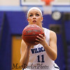 York's #11 Reilly Smedley concentrates before taking a foul shot during Saturday's Western Maine Conference Girls Basketball game between York and Fryeburg Academy @ York on 12-19-2015.  Matt Parker Photos
