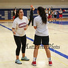 Winnacunnet's Girls Junior Varsity Coach Aubrey Palacio gives instructions for a drill at Wednesday's Girls Basketball Tryouts at WHS on 12-2-2015.  Matt Parker Photos