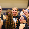 Winnacunnet's Girls Varsity Coach Cassiopeia Turcotte meets with her players during Wednesday's Girls Basketball Tryouts at WHS on 12-2-2015.  Matt Parker Photos