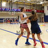 Winnacunnet JV players run a drill during Wednesday's Girls Basketball Tryouts at WHS on 12-2-2015.  Matt Parker Photos