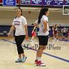 Winnacunnet's Girls Junior Varsity Coach Aubrey Palacio smiles at Wednesday's Girls Basketball Tryouts at WHS on 12-2-2015.  Matt Parker Photos