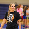 Winnacunnet's Girls Varsity Coach Cassiopeia Turcotte at Wednesday's Girls Basketball Tryouts at WHS on 12-2-2015.  Matt Parker Photos