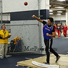 Winnacunnet's Duncan Cragg throws the Shot Put at Sunday's Indoor Winter Track Meet @ the Paul Sweet Oval at UNH on 12-20-2015.  Matt Parker Photos
