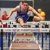 Winnacunnet's Billy Powers clears a hurdle in the Boys 55m hurdles at Sunday's Indoor Winter Track Meet @ the Paul Sweet Oval at UNH on 12-20-2015.  Matt Parker Photos