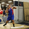 Winnacunnet's Michael Moser throws for a distance of 38-02.25 in the Shot Put which is good for 6th place at Sunday's Indoor Winter Track Meet @ the Paul Sweet Oval at UNH on 12-20-2015.  Matt Parker Photos