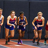 Winnacunnet's Meaghan Kacmarcik (L)(6th 3:35.60) and teammate Lauren Connolly (4th 3:24.10) at the start of the 1000m run at Sunday's Indoor Winter Track Meet @ the Paul Sweet Oval at UNH on 12-20-2015.  Matt Parker Photos