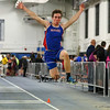 Winnacunnet's Philip Antonio jumps 18-00.00 in the boys long jump at Sunday's Indoor Winter Track Meet @ the Paul Sweet Oval at UNH on 12-20-2015.  Matt Parker Photos