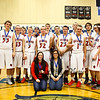 Spaulding players and Team Managers pose for a photo after winning Wednesday's Final Boys Basketball game between Winnacunnet and Spaulding High Schools at the 2015 5th Annual Boys and Girls Bobcat Invitational Basketball Tournament @ Oyster River HS on 12-30-2015.  Matt Parker Photos
