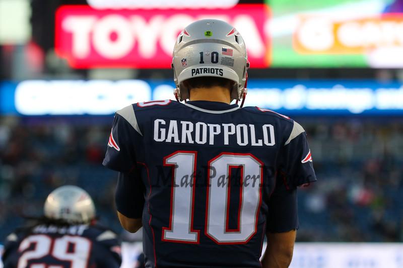 Jimmy Garoppolo New England Patriots vs Philadelphia Eagles at Sunday's NFL Football game on 12-6-2015 @ Gillette Stadium, Foxborough MA.  Matt Parker Photos
