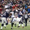 Patriots QB #12 Tom Brady Passes over  during Sunday's NFL Football game between the New England Patriots and Philadelphia Eagles on 12-6-2015 @ Gillette Stadium, Foxborough MA.  Matt Parker Photos