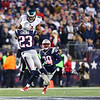 Patriots Safety #23 Patrick Chung breaks up a pass to Eagles Wide Receiver #81 Jordan Matthews during Sunday's NFL Football game between the New England Patriots and Philadelphia Eagles on 12-6-2015 @ Gillette Stadium, Foxborough, MA.  Matt Parker Photos