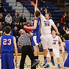 Winnacunnet Warriors DIV I Boys Varsity Basketball vs Londonderry Lancers on Monday 2-16-2015 @ Winnacunnet High School.  Matt Parker Photos