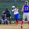 Winnacunnet's Casey Maggiore gets a hit off   Londonderry Pitcher Andi Nelson with Catcher Lizzie Nelson watching the play during Friday's Girls DIV I  Softball game between Winnacunnet and Londonderry High Schools on 4-17-2015 @ WHS.  Matt Parker Photos