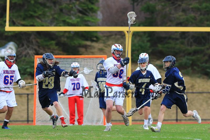 Winnacunnet Boys Lacrosse vs Windham High School on Wednesday 4-22-2015 @ WHS.  Matt Parker Photos