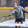 Winnacunnet's Sam Cranford steps in to meet the ball during the #4 Doubles Match at Monday's Home Opener Tennis Match vs Londonderry @ Winnacunnet High School on 4-6-2015.  Matt Parker Photos