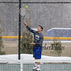 Winnacunnet Boys Tennis Match vs Merrimack High School on Wednesday was cut short due to snow @ WHS on 4-8-2015.  Matt Parker Photos