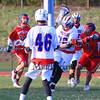 Winnacunnet DIv II Boys Lacrosse vs Oyster River High School on Friday 5-1-2015 @ WHS.  Matt Parker Photos