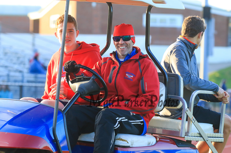 Winnacunnet's Coach Gozzo after Friday's DIV II Boys Lacrosse game between Winnacunnet and Oyster River High Schools on 5-1-2015 @ WHS.  Matt Parker Photos
