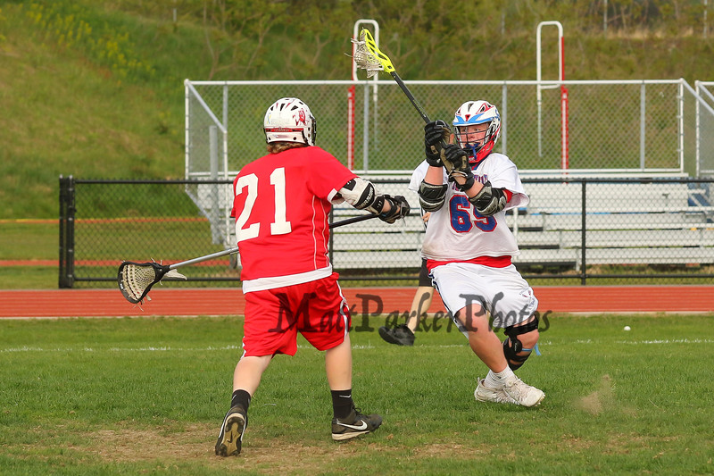 Winnacunnet Boys DIV II Lacrosse vs Spaulding High School on Monday 5-18-2015 @ WHS.  Matt Parker Photos