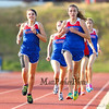 Winnacunnet's Amanda Cestrone (L) and Alli Scibisz lead a group of runners in the Girls 3200m run during Tuesday's Dual Boys and Girls DIV I Track meet between Winnacunnet and Bedford High Schools on 5-19-2015 @ WHS.  Matt Parker Photos