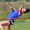 Winnacunnet's Holly Miranda leaps to clear the the bar in the girls high Jump during Tuesday's Dual Boys and Girls DIV I Track meet between Winnacunnet and Bedford High Schools on 5-19-2015 @ WHS.  Matt Parker Photos