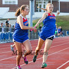 Winnacunnet's Cate Casassa receives the baton from Gabbie Maclean in the Girls 4x400m Relay during Tuesday's Dual Boys and Girls DIV I Track meet between Winnacunnet and Bedford High Schools on 5-19-2015 @ WHS.  Matt Parker Photos