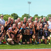 The Marshwood's Girl's Lacrosse team poses for a picture with the 1st Place Trophy after winning Saturday's Class A Girls Lacrosse Maine State Championship game between Marshwood and Messalonskee High Schools at Fitzpatrick Stadium, Portland ME on 6-20-2015.  Matt Parker Photos