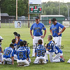 Seacoast Coaches speak to the players after losing Tuesday's baseball game to Roger Allen after the Cal Ripken 10-Year-Old All-Stars baseball game between Seacoast and  Roger Allen at the Districk VII Tournament @ Roger Allen Park on Tuesday 6-23-2015, Rochester, NH.  Matt Parker Photos